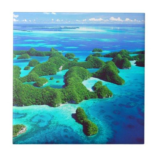 República tropical Palau de la isla Azulejos Ceramicos