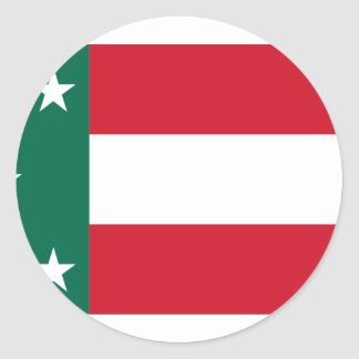 República Yucatán México Etiquetas Redondas