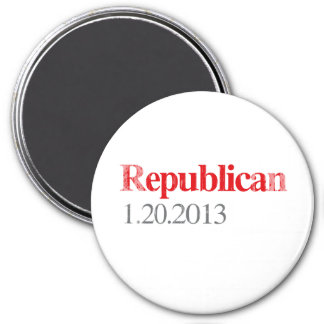 REPUBLICAN 1-20-2013 Faded.png 3 Inch Round Magnet