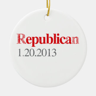 REPUBLICAN 1-20-2013 Faded.png Double-Sided Ceramic Round Christmas Ornament