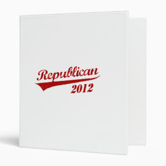 REPUBLICAN 2012 JERSEY 3 RING BINDERS