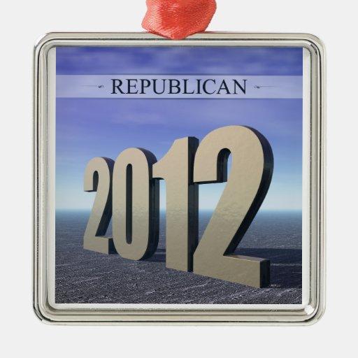 Republican 2012 metal ornament