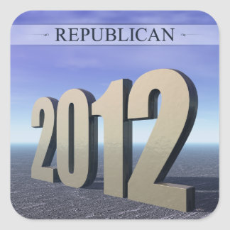 Republican 2012 square sticker