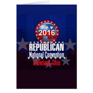 Republican 2016 Convention Card