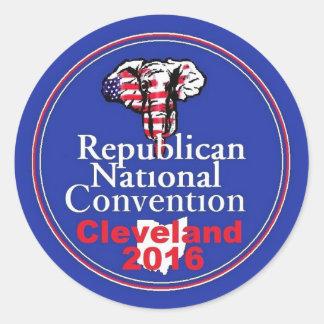 Republican 2016 Convention Classic Round Sticker