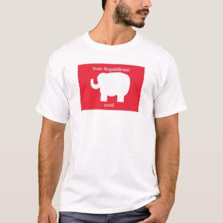 Republican 2016 Elephant Red White Custom T-Shirt