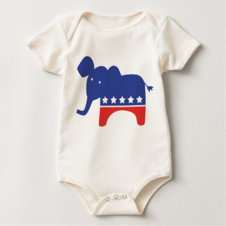 Republican Baby Elephant Baby Creeper