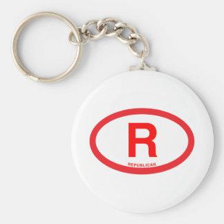 Republican Basic Round Button Keychain