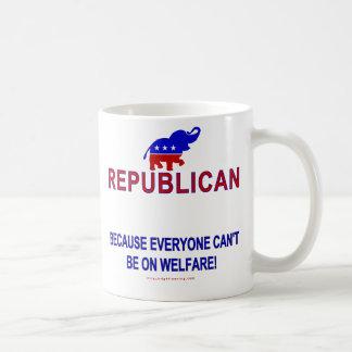 Republican because... classic white coffee mug