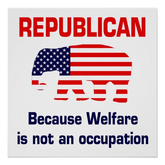 Persistence Motivational Quotes: Because Welfare Is Not An Occupation Poster