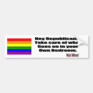 Republican Bedroom Bumper Sticker