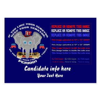 Republican Business-Blog Card Different  design Large Business Card