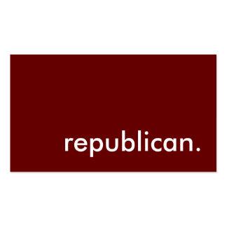 republican. business card templates