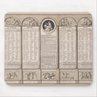 Republican calendar, 1794 mouse pad