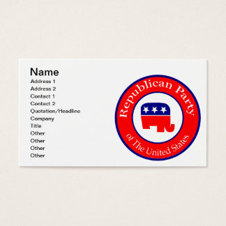 Republican Campaign Business Card