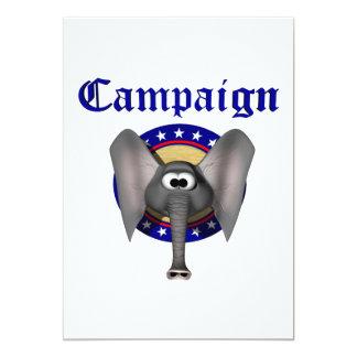 """Republican Campaign 5"""" X 7"""" Invitation Card"""