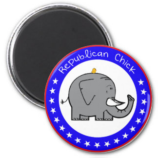 republican chick 2 inch round magnet