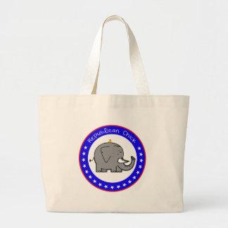republican chick canvas bags