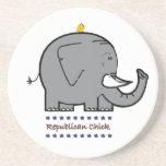 republican chick beverage coasters