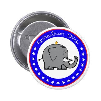 republican chick button