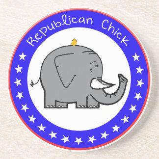 republican chick coaster