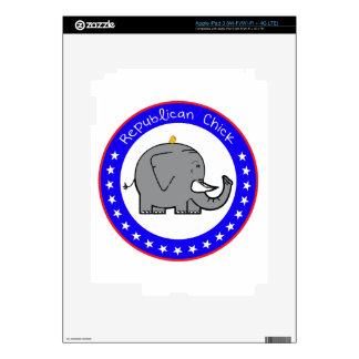 republican chick decal for iPad 3