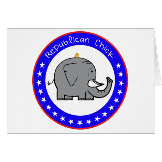 republican chick greeting card