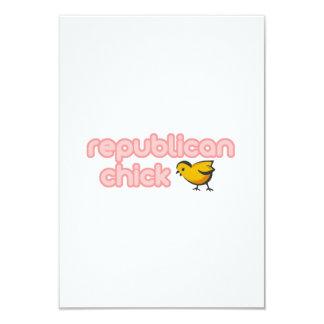 """Republican Chick 3.5"""" X 5"""" Invitation Card"""