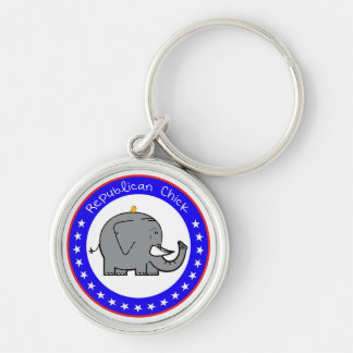 republican chick keychain