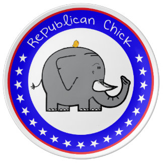 republican chick plate