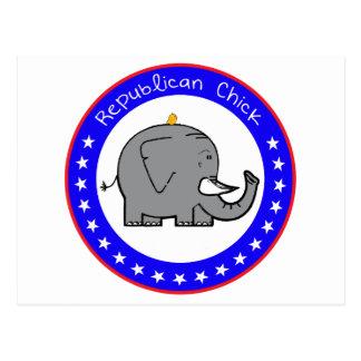 republican chick postcard