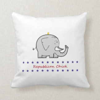 republican chick throw pillow