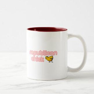 Republican Chick Two-Tone Coffee Mug