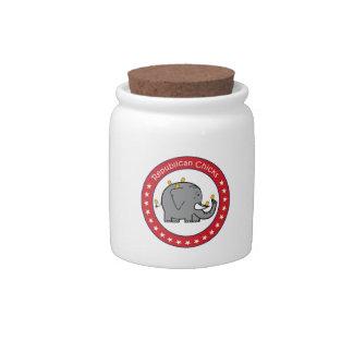 republican chicks candy jar
