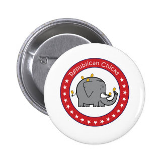 republican chicks pinback button