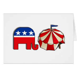 Republican Circus Elephant and Tent Card