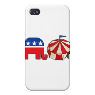 Republican Circus Elephant and Tent iPhone 4 Cases