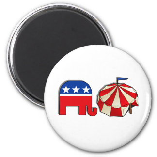 Republican Circus Elephant and Tent Magnet