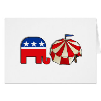 Republican Circus Elephant Card