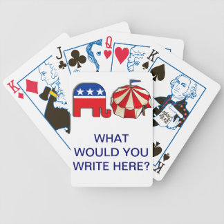 Republican Circus Word Puzzle Bicycle Playing Cards
