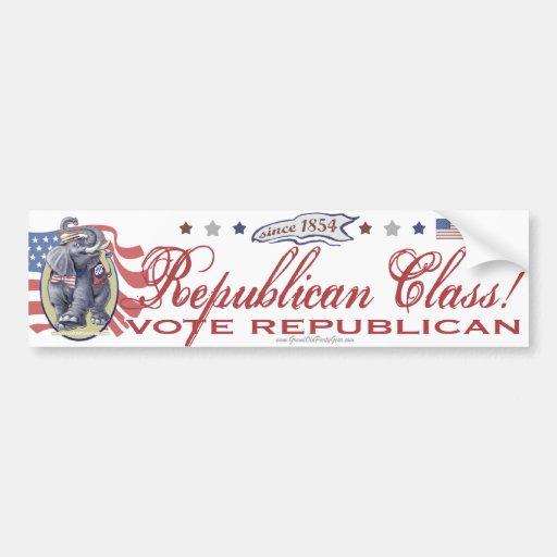 Republican Class Bumper Sticker Car Bumper Sticker