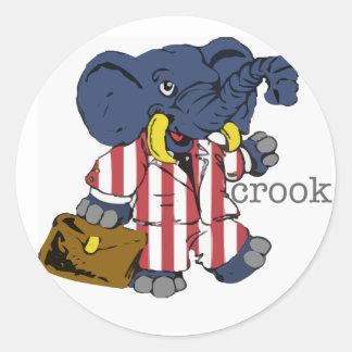 Republican Crook Sticker
