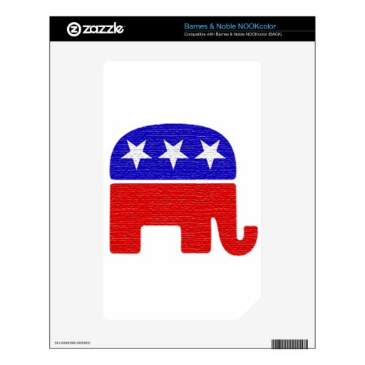REPUBLICAN DECALS FOR THE NOOK COLOR