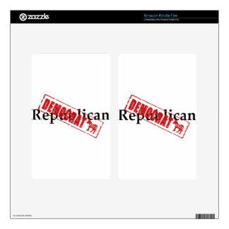Republican: DEMOCRAT Kindle Fire Skins