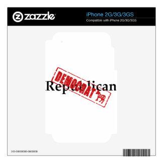 Republican DEMOCRAT Skin For The iPhone 3G