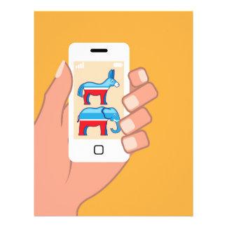 Republican Democrat Smartphone Letterhead