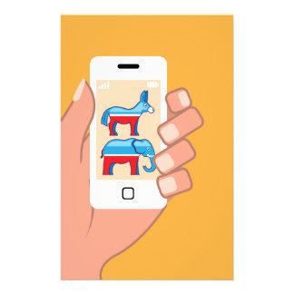 Republican Democrat Smartphone Stationery
