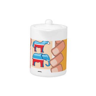Republican Democrat Smartphone Teapot