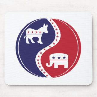 Republican  Democrats Working Together Mousepads