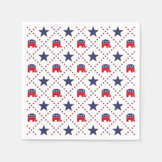 Republican Diamond Pattern Paper Napkin